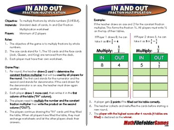 In and Out Fraction Multiplication [CCSS NF.B.4]