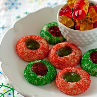 Gummy Bear Thumbprint Cookies