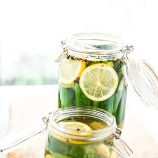 Cucumber Pickles with Lemon Recipe