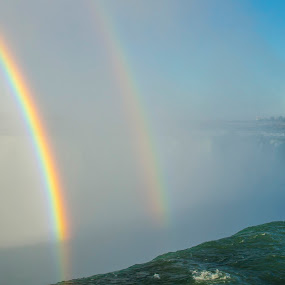 Double Rainbow Over Niagara Falls by Fan Leung - Landscapes Waterscapes (  )