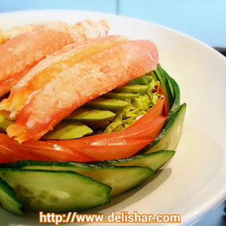 Snow Crab Kani Avocado Salad & Wafu Dressing + Giveaway!.