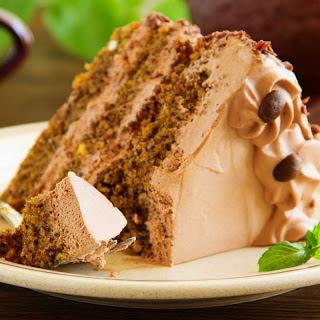 Chocolate Coffee Cake Recipe with Chocolate Buttercream Frosting Recipe