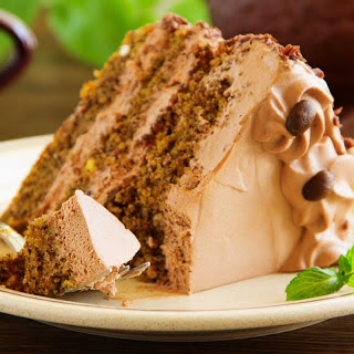 Chocolate Coffee Cake Recipe with Chocolate Buttercream Frosting.