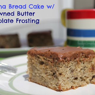 Banana Bread Cake with Browned Butter Chocolate Frosting