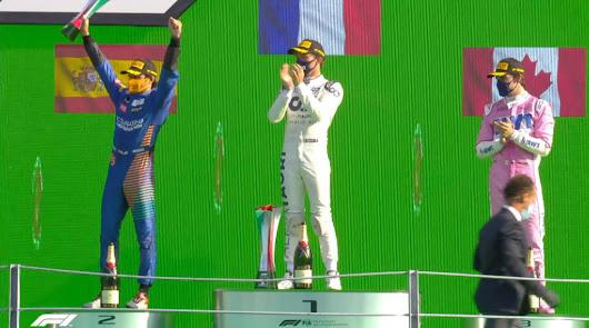 Histórico podio el conseguido por Sainz en Italia, acabó segundo