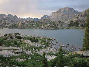 Photo: Our view from our last camp at Island Lake.