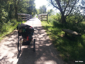 Photo: The pioneer trail had shades and benches, one of my best mornings!