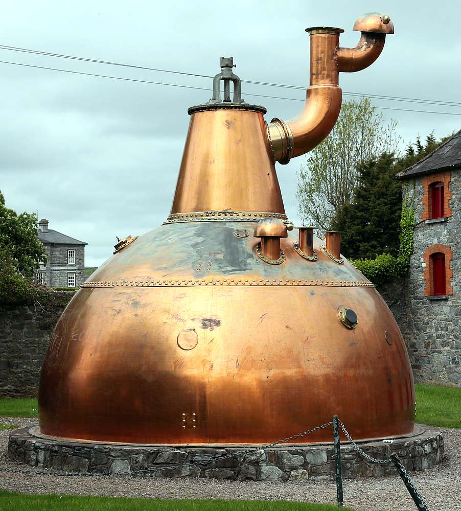 Midleton Distillery, home to the world's largest pot that has a capacity of approximately 150,000 litres