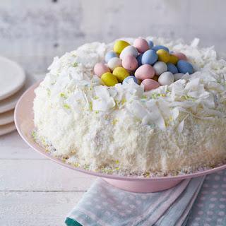 Lemon Coconut Nest Cake