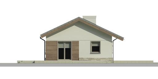 Dom przy Przyjemnej - Elewacja lewa