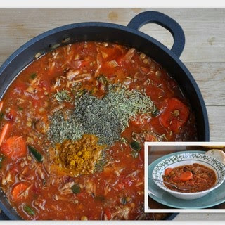 OVEN-COOKED LENTIL SOUP.