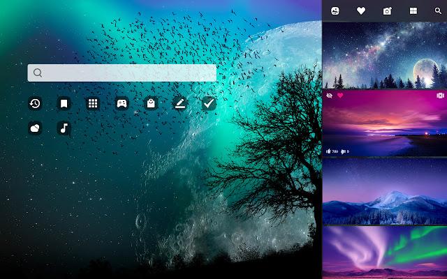 Night Sky Hd Wallpaper New Tab Theme