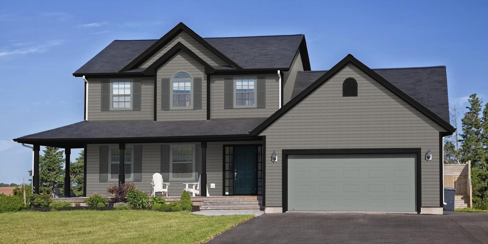 Unexpected color trim combinations design ideas allura cms - Exterior house colors with black trim ...