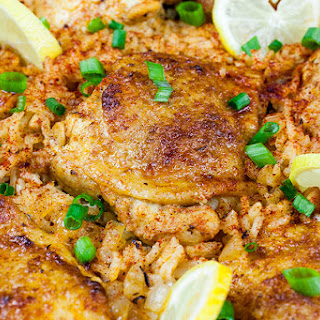 One Pan Spanish Chicken and Rice Recipe