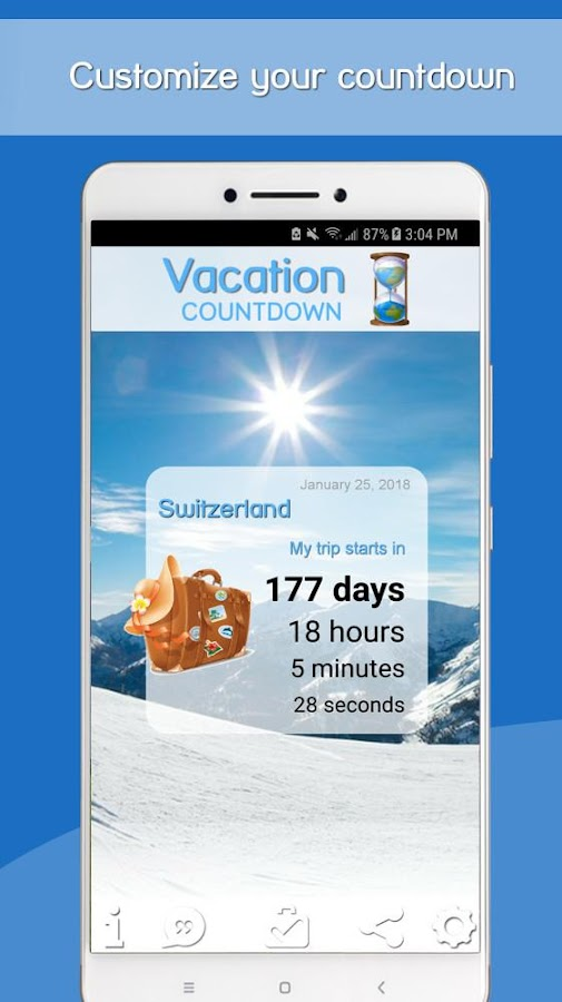 spesso Vacation Countdown App - App Android su Google Play KK01