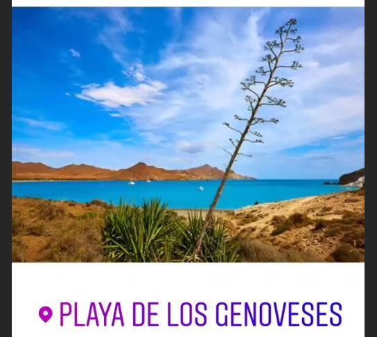 Captura de pantalla de las Stories de Lonely Planet con la participación de Almería en el concurso.