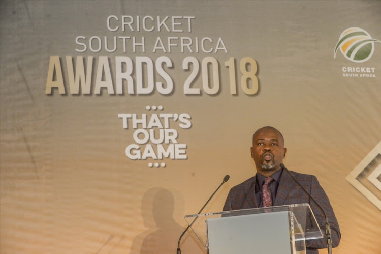 Cricket South Africa chief executive Thabang MOroe speaks during the CSA Awards breakfast at Inanda Polo Club on June 02, 2018 in Johannesburg, South Africa. Moroe and his governing Board of Directors are faced with a tough task of finalizing the T20 Global League (T20GL) standoff with franchise owners.