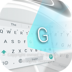 Pearl White Keyboard for Android
