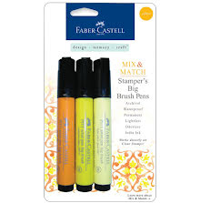 Faber Castell Stamper´s Big Brush Pen 3/Pkg - Yellow