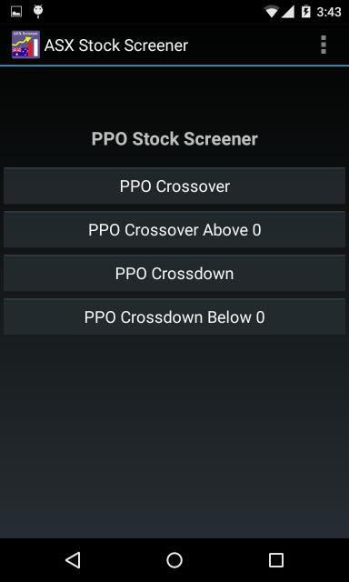 ASX Stock Screener- screenshot
