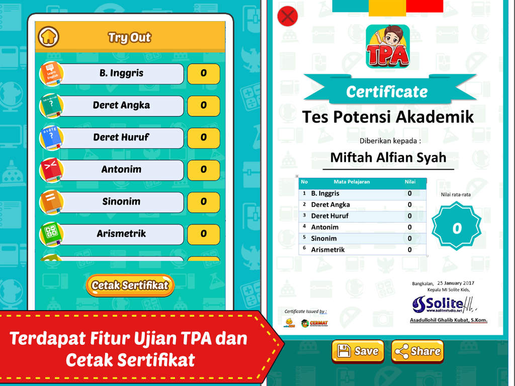 Ujian TPA Psikotes- screenshot