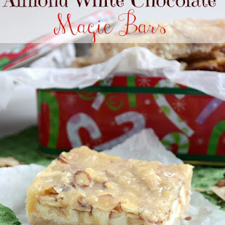 Almond White Chocolate Magic Bars.