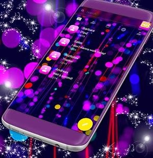 Volný 2017 Neon SMS Téma - náhled