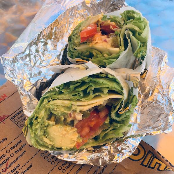 Avocado lettuce wrap