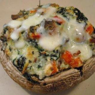 Spinach & Ricotta Stuffed Portobello Mushrooms.