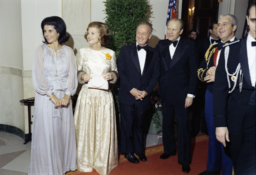 of President Gerald R. Ford, First Lady Betty Ford, and Prime Minister and Mrs. Yitzhak Rabin of Israel.