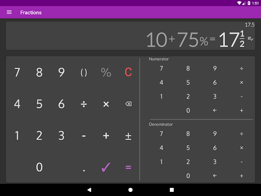 fractions calculator detailed solution available mod data apksmods com