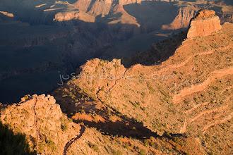 Photo: South Kaibab Trail in the Grand Canyon. Grand Canyon NP, AZ.