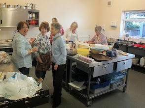Photo: 004 The all important Rainford ladies refreshments team busily preparing for the rush that was about to take place .