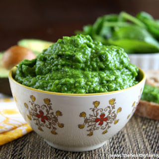 Spinach and Avocado Dip (Raw, Vegan, Dairy-Free, Gluten-Free, Paleo-Friendly).