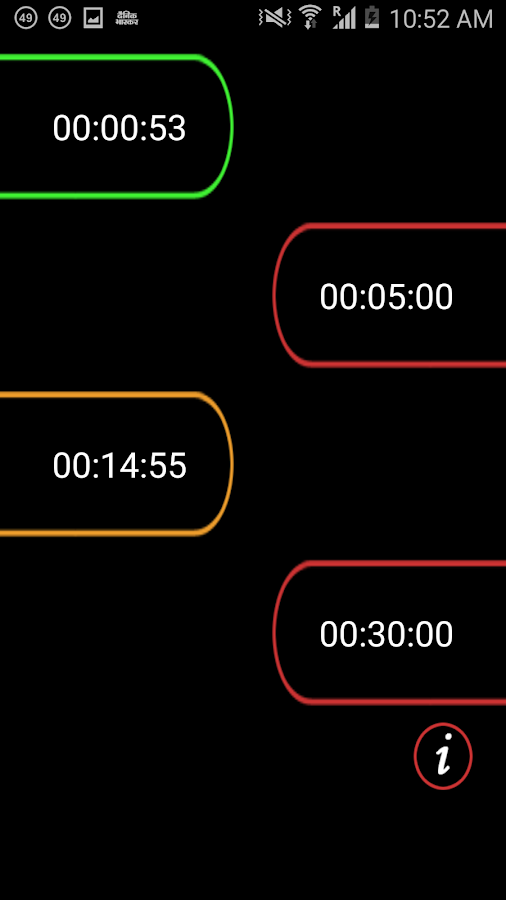 Multiple Timer FREE- screenshot