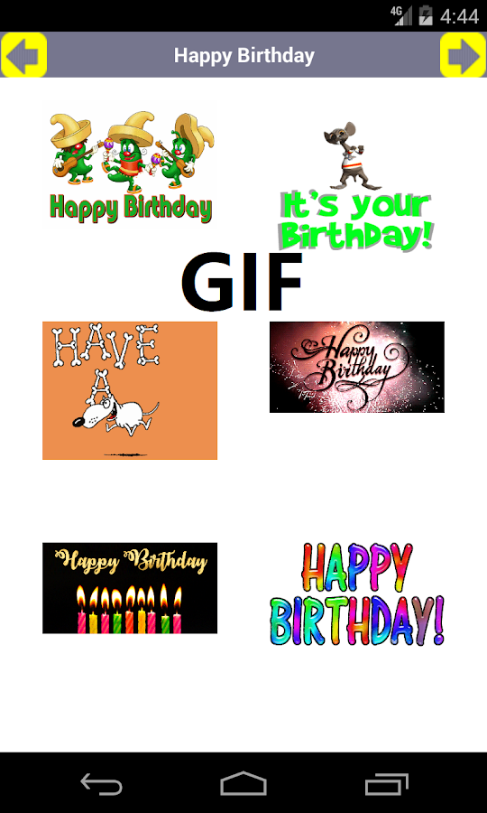 Happy Birthday Card Video GIF Android Apps on Google Play – Happy Birthday Video Cards