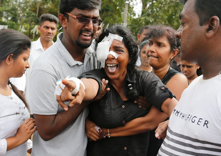 Image result for sri lanka bomb crying