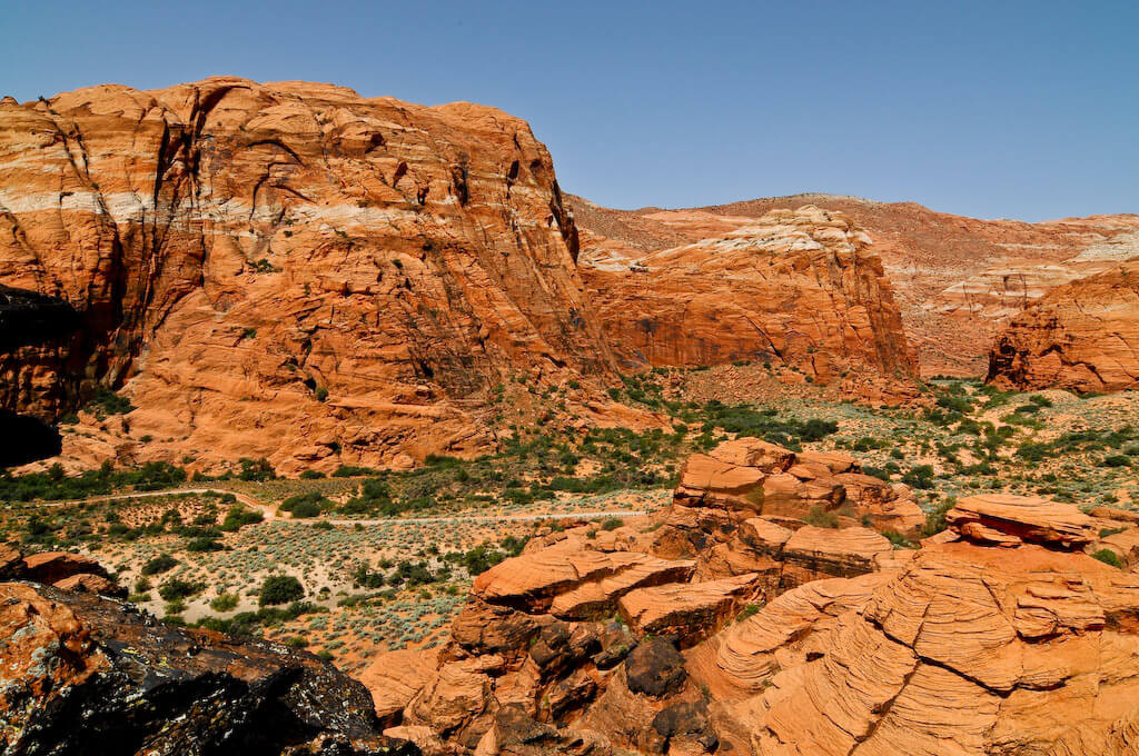 snow canyon in southern utah