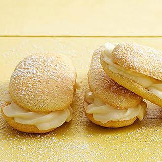 Lemon Ladyfinger Sandwich Cookies.