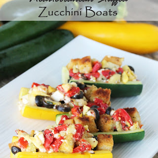 Mediterranean Zucchini Boats with California Ripe Olives