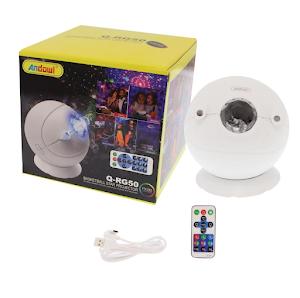Lampa proiector cu telecomanda, lumini laser RGB, Andowl Q-RG50