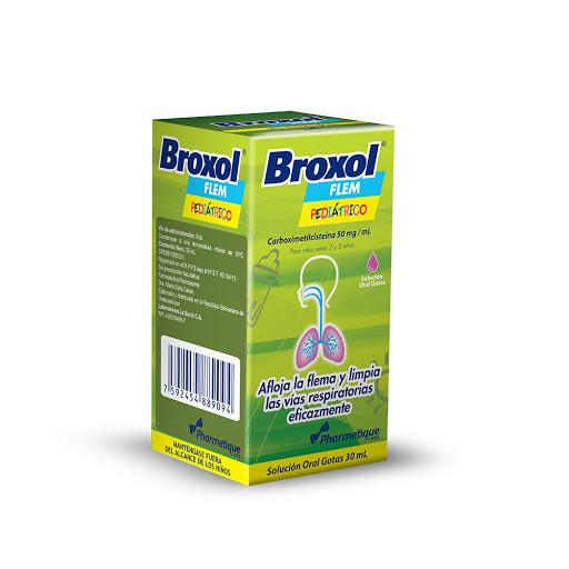 oxolamina broxol flem 50mg/30 ml gotas 30ml la sante