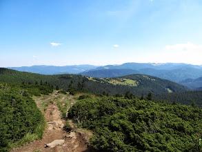 Photo: 21.Krajobraz Czarnohory. Nie będę się bawił w rozpoznawanie szczytów, bo jestem tu pierwszy raz i Czarnohora to dla mnie w większości terra incognita.
