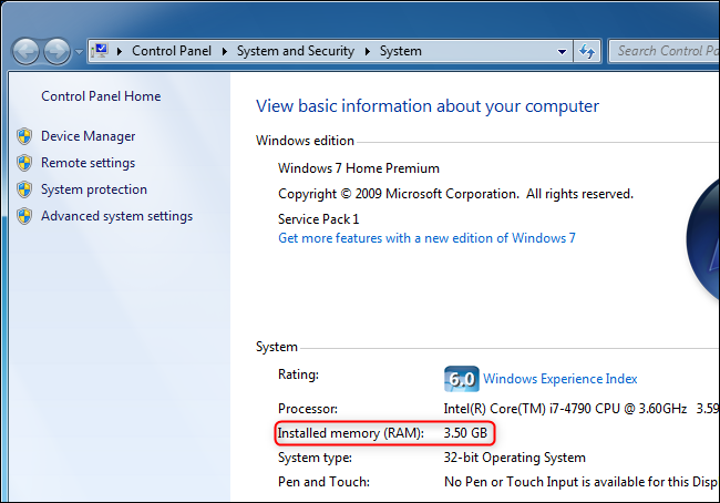 Kiểm tra RAM trên Windows 7