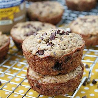 Flourless Chocolate Chip Almond Butter Muffins.