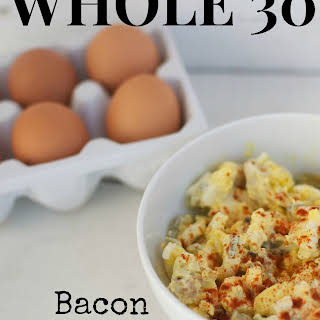 Whole 30 Bacon Deviled Egg Salad.