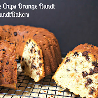 Chocolate Chips Orange Bundt Cake #BundtBakers
