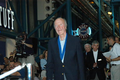 Heroes into the U.S. Astronaut Hall of Fame former astronaut Gordon Cooper is introduced as a previous inductee.