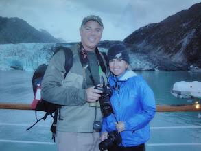 Photo: Enjoying the glaciers with my good friend.