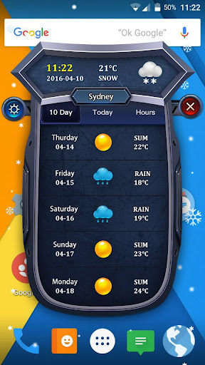 Widget Weather -Daily Hourly